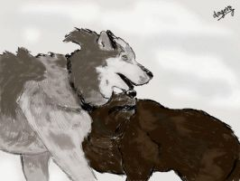Submissive Wolves by DragonzFire95