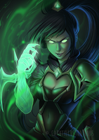 Commission Soulstealer Vayne (LoL) by CAROTdrawsthings