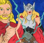 Odinson and Thor 5-2015 by dynakor