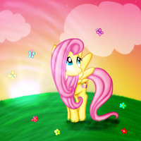 FlutterShy by ElectricHalo