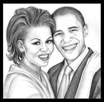 Barack and Michelle by emizael