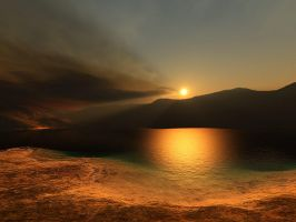 Terragen - Sunset by duris