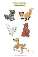 Forest Animals Stickers by MySweetQueen