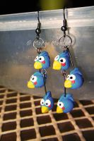 Angry Birds Dangling Earrings by margemagtoto