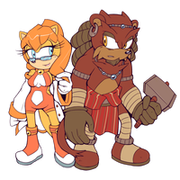 Sonic Origins - Lucia and Berhan (Ray's Parents) by Cylent-Nite