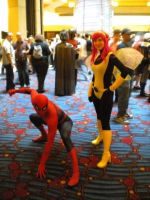 Pixie and Spiderman by EmilyScissorhands