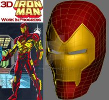 3D Iron Man WIP by iron-at