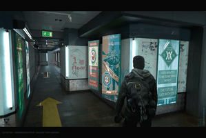 Outer Veil - Immigration Office - Hallway - Dirty by AranniHK