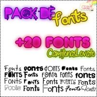 Pack de Fonts by CamiiLovatoJonas