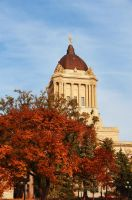 Manitoba Legislative Building in Autumn by Joe-Lynn-Design