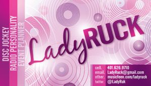 DJ LADY RUCK Business Card by AnotherBcreation