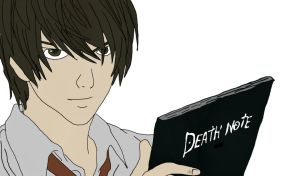 Light Yagami - Death Note Drawing by Megalomaniacaly