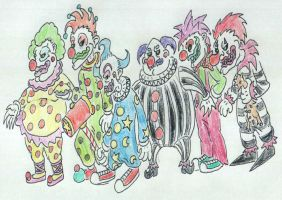 carnival clownspawn by heuschrecke13