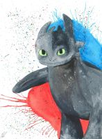 Toothless *PRINT FOR SALE* by TopazBlitz