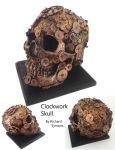 steampunk cogs skull by richardsymonsart
