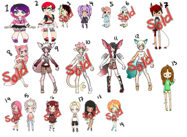 Unsold Adopts: Discounted: 8/19 OPEN by ObsceneBarbie
