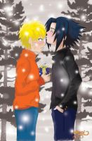 SasuNaru- Merry Christmas Dobe by Tigers13