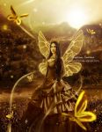 Sun Kissed- Butterfly fairy by areemus