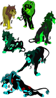 Lion Adoptables (3/6) by whitetigerdelight