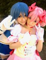 Just friends! - Puella Magi Madoka Magica by NamiWalker