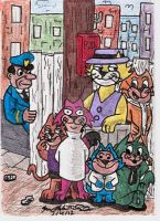 TOP CAT AND THE GANG SKETCH CARD by shawncomicart