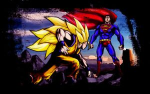 Superman vs Goku by dan-stan