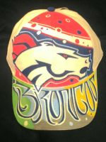 Broncos Cap , Paint markers  by acedoza1