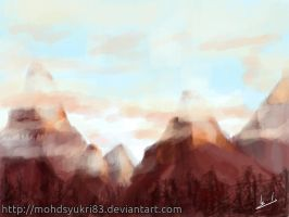 Mountain scenery by real-hybridjunkie