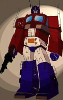 OPTIMUS PRIME COLORED by Mjones456