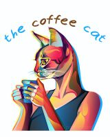 the coffee cat by pazforward