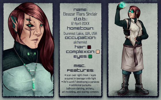 Character Sheet: Eleazar by cosmogyral-delirium