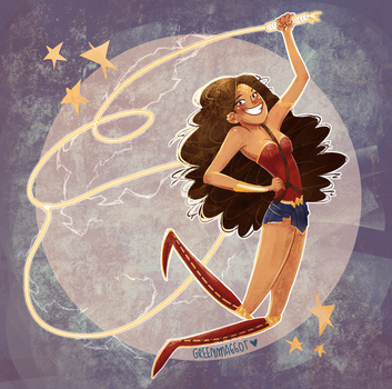 Wonder Woman (+timelapse video) by greenmaggot