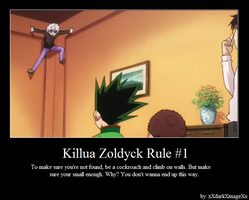 Killua Zoldyck Rule #1 by xXdarkXmageXx