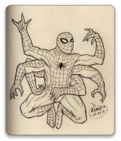 Six-Armed Spiderman by Insanemoe