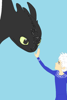 Jack Frost and Toothless by nekosamuri123