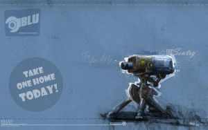 Mr Sentry Blu Wallpaper by GAVade