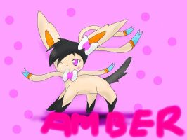 'AT' Amber the sylveon by snivy-fan