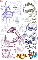 Doodles: Monsters University - ROR by Mossygator