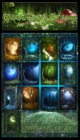 WoodLand Dream backgrounds by moonchild-ljilja