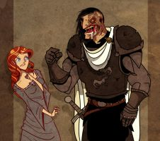 Sansa and The Hound II by Sir-Heartsalot