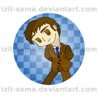 10th Doctor Button Take 2 by Izit-Sama