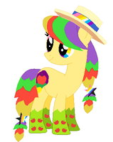 Rainbow fied applestar by awesome992