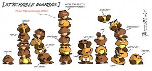 Super Mario: Stackable Goombas by indiochink