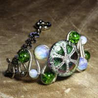 Steampunk Jewelry Bracelet X by CatherinetteRings