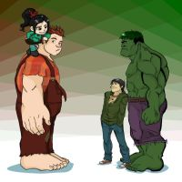 Wreck-It Ralph vs. The Hulk by Empty-Brooke