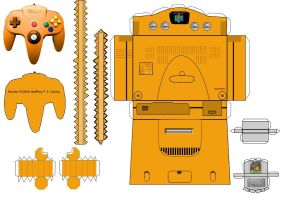N64 Papercraft Template by gpsc