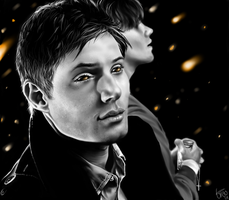 Dean and Sam Winchester by PawsforHead