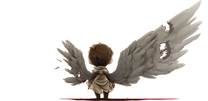 a whole castiel by RottenDeadpan