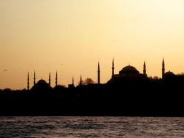 Sunset in Constantinople by e-l-a-n-i