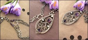 Purple spring medallion-detail by LittleLyra